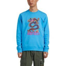 Dragon-Embroidered Cotton Sweatshirt