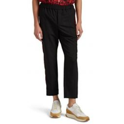 Side-Striped Stretch-Canvas Trousers