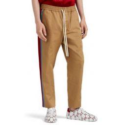 Striped Cotton Twill Pants