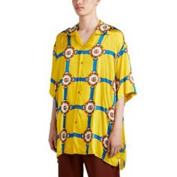 Double G Harness-Print Bowling Shirt