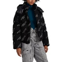 Caille Logo-Jacquard Oversized Down Puffer Jacket
