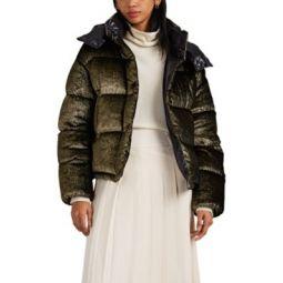 Caille Velvet Oversized Down Puffer Coat