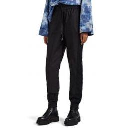 Crepe-Inset Tech-Fabric Jogger Pants