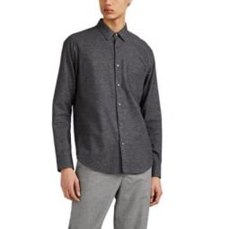 Melange Cotton Flannel Shirt