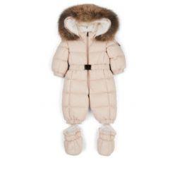 Infants Fur-Trimmed Down-Quilted Snowsuit