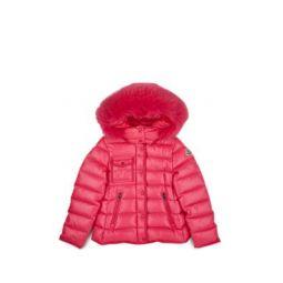 Kids Fur-Trimmed Down Hooded Puffer Coat