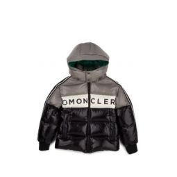 Kids Logo Down-Quilted Hooded Puffer Coat