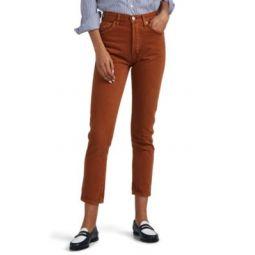 50s High-Rise Crop Cigarette Jeans