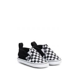 Infants Canvas & Suede Slip-On Crib Sneakers