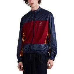Logo-Print Ripstop & Jersey Windbreaker Jacket