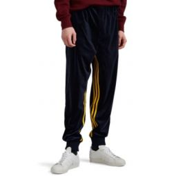 Striped Colorblocked Velour Jogger Pants