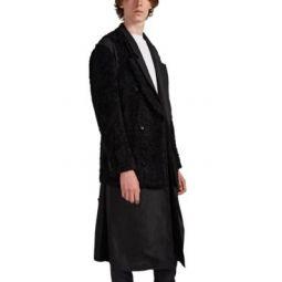2-In-1 Faux-Fur Wool Coat