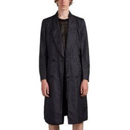 Iridescent-Twill Drop-Cut Coat