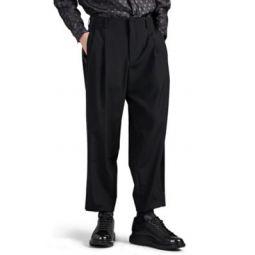 Wool Canvas Crop Tuxedo Trousers