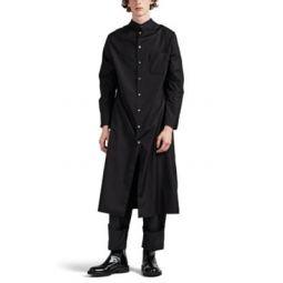 Cotton Sportcoat-Sleeve Shirt Dress