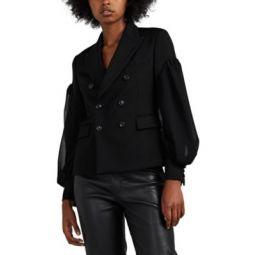 Wool Layered-Sleeve Blazer