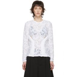 White Lace Padded Blouse