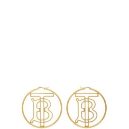 Gold Monogram Hoop Earrings
