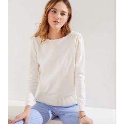 Stitchy Puff Sleeve Sweater