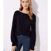 Draped Sleeve Sweater