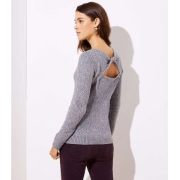 Twisted Back Cutout Sweater