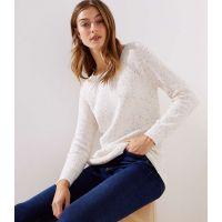 Textured Shirttail Sweater