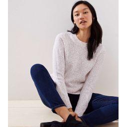 Marled Rib Trim Sweater
