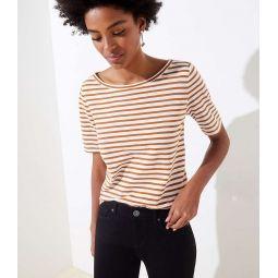 Striped Vintage Soft Shirttail Tee