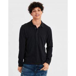 AE Long Sleeve Slub Jersey Polo