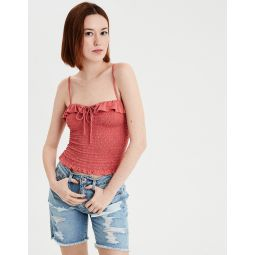 AE Smocked Lace Up Tank