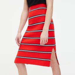 Knit Stripe Pencil Skirt
