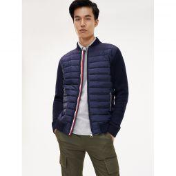 Mixed Media Zip Sweatshirt