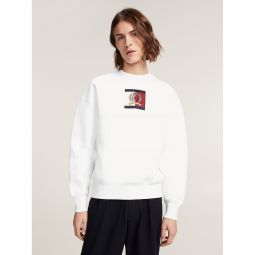 Crest Embroidery Crew Neck Sweater