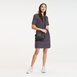 Short-Sleeve Stripe Dress