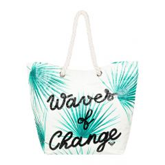 Waves Of Changes Reversible Recycled Beach Bag