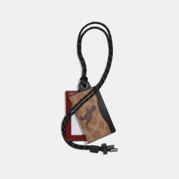 Id Lanyard Card Case In Signature Canvas With Rexy By Sui Jianguo