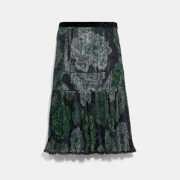Pleated Skirt With Kaffe Fassett Print