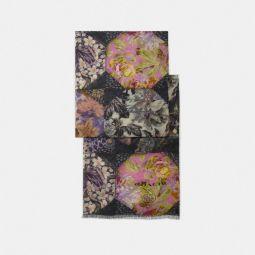 Silk Oblong Scarf With Kaffe Fassett Print