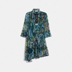 Asymmetrical Dress With Kaffe Fassett Print