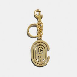 Spinning Coach Retro Graphic Bag Charm