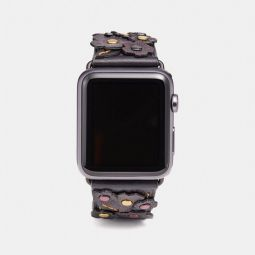 Apple Watch Strap With Tea Rose Applique