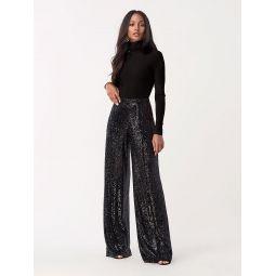 Rhiannon Sequined-Jersey Wide-Leg Pant