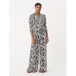 Jeanette Silk Crepe De Chine Wide-Leg Pants