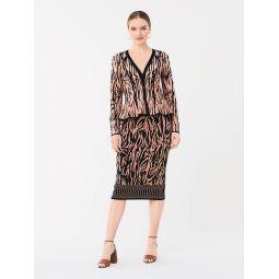Kamirah Fitted Knit Skirt