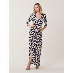 Abigail Silk-Jersey Maxi Wrap Dress