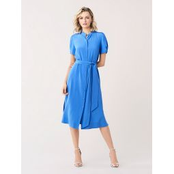Addilyn Silk Crepe De Chine Shirtdress