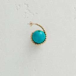 Right Earring With Natural Stone