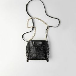Mini Embossed-Leather M Bag With Chain