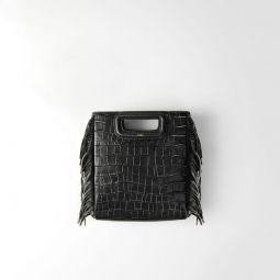 Crocodile Embossed-Leather M Bag