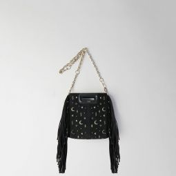 Mini Studded Suede M Bag With Chain